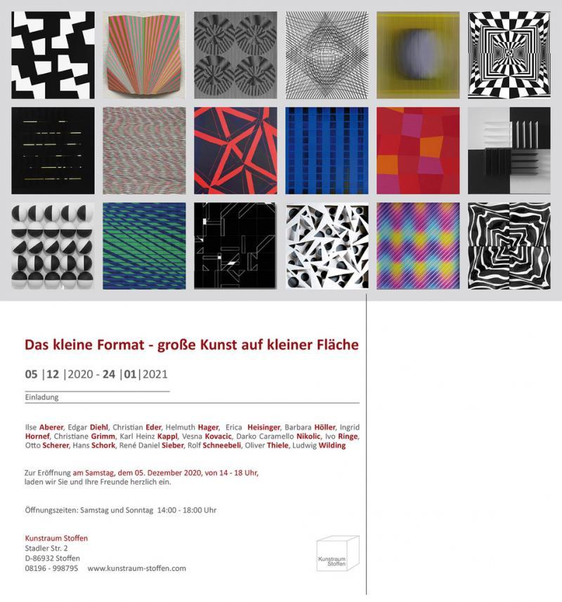 """December 12, 2020 - January 24, 2021, """"Das kleine Format"""", Kunstraum Stoffen, Germany"""