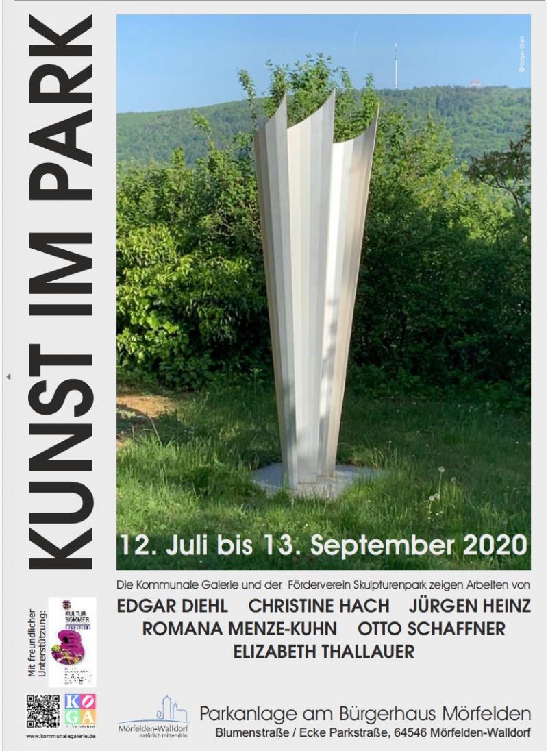 Edgar Diehl, STELE BUSTIER, Kunst im Park- exhibition, Mörfelden, Germany
