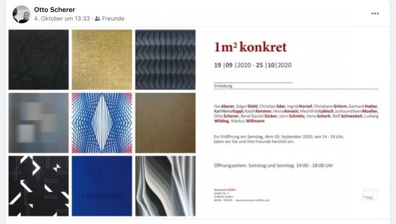 """Edgar Diehl, """"1qm konkret"""", Kunstraum Stoffen, Germany"""