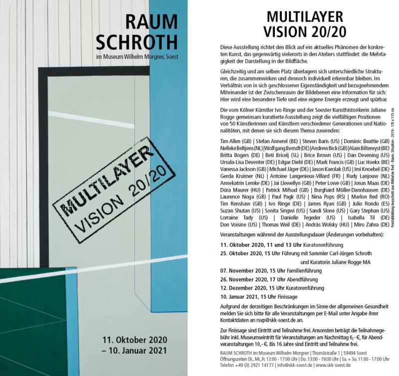 "Edgar Diehl, ""MULTILAYER"", Raum Schroth, William Morgner Museum, Soest, Germany"