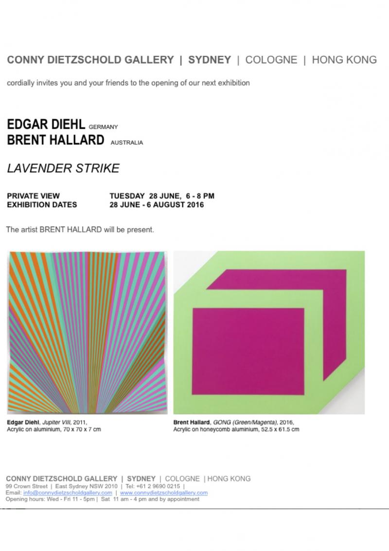 "Edgar Diehl at ""LAVENDER STRIKE""  in Conny Dietzschold Gallery, Sydney Australia"