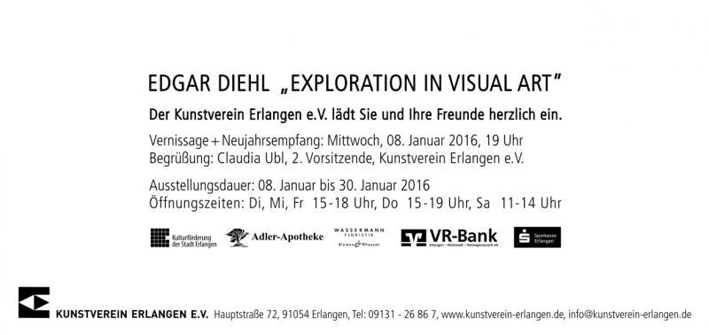 Invitation Kunstverein Erlangen. Edgar Diehl, solo.show