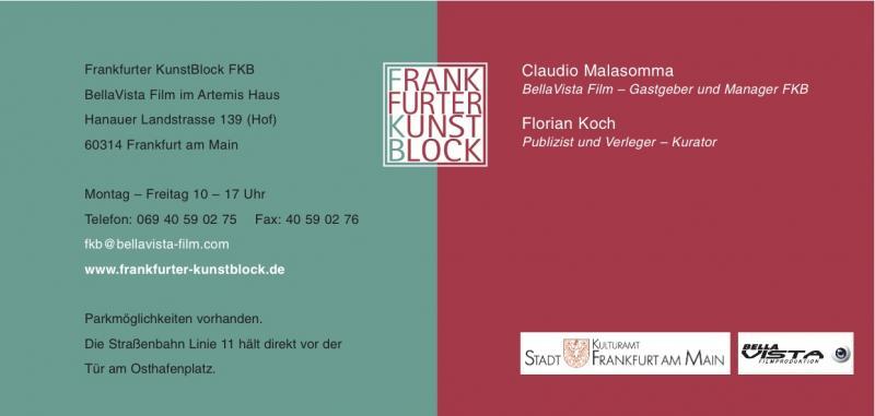 """Daten zur Ausstellung """"Erdbeeren mit Pfeffer"""" im Frankfurter Kunstblock mit"""
