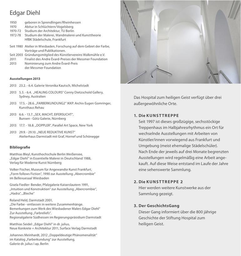 Einladung zur Ausstellung Edgar Diehl im Hospial zum heiligen Geist Frankfurt/M