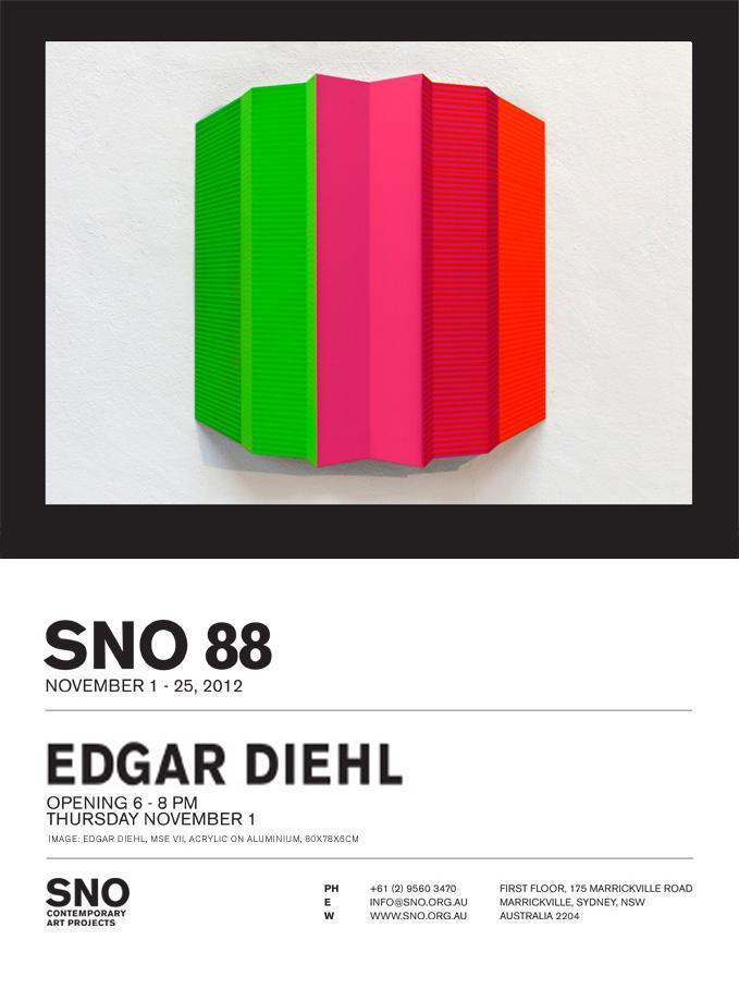 Ausstellungsplakat des SNO Sydney, Edgar Diehl SNO 88
