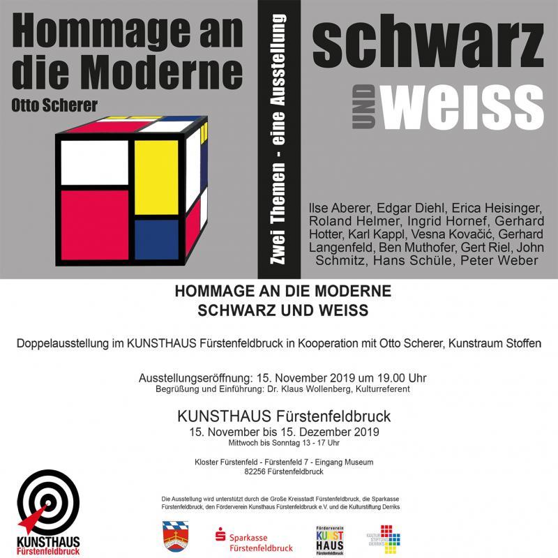 """Saturday, November 12, 2019  """"schwarz & weiss"""", Kunsthaus Fürstenfeldbruck"""