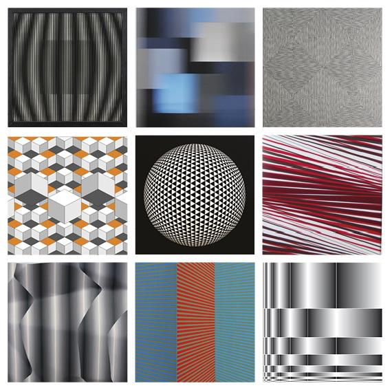 A new view on contemporary Op Art with with works from 17 international artists!