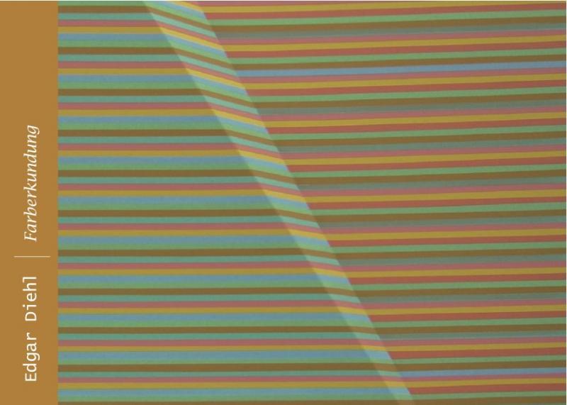 """Farbiges Streifenmuster, aus einem Kunstwerk,mit Titel  """"FARBERKUNDUNG"""""""