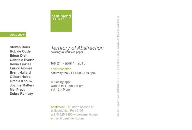 "Exhibition ""Territory of Abstraction"" at Pentimenti Gallery, Philadelphia, USA"