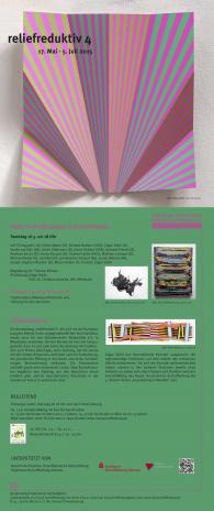 """Saturday, May 16, 2015,  """"reliefreduktiv 4"""", Neuer Kunstverein Aschaffenburg, ti"""