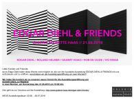 """""""EDGAR DIEHL & FRIENDS"""", Galerie Mareitte Haas, Ingolstadt, Germany,"""
