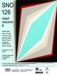 """reliefreduktiv # 6"" SNO-Sydney curated by Edgar Diehl"