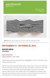 """SERENDIPITY"", Edgar Diehl at Pentimenti Gallery in Philadelphia USA"